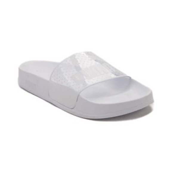 Womens Puma Leadcat Jelly Slide Sandal White f1fd9fea5